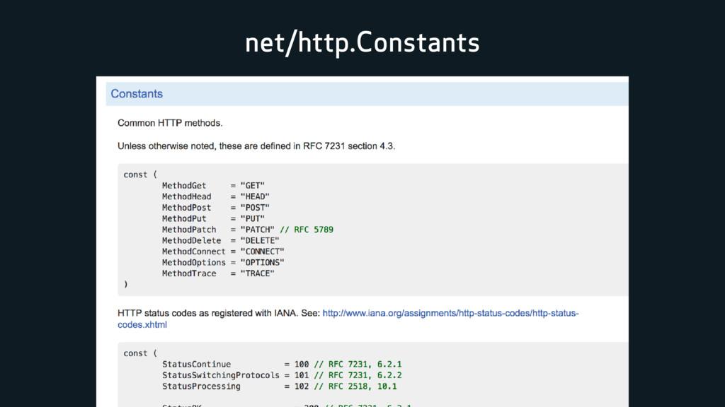 net/http.Constants