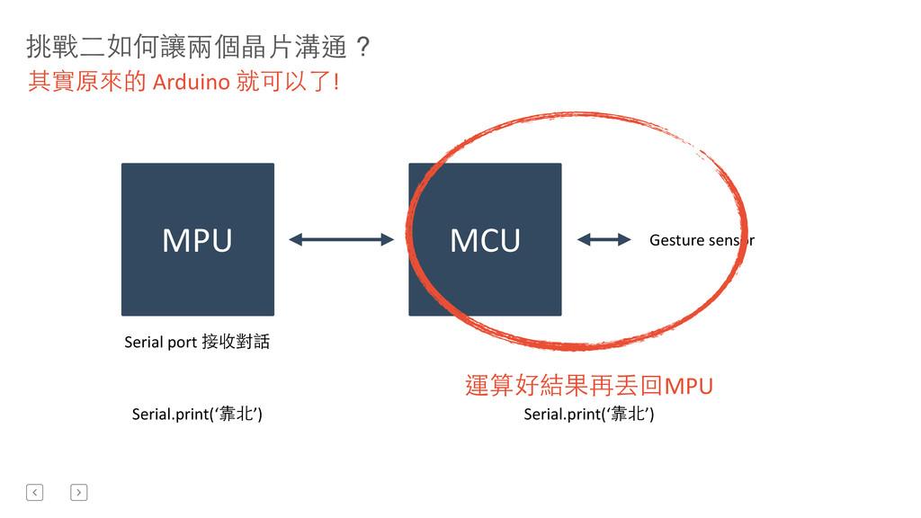 挑戰⼆二如何讓兩個晶⽚片溝通 ? 其實原來的 Arduino 就可以了! MPU ...
