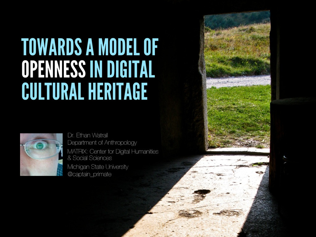 TOWARDS A MODEL OF OPENNESS IN DIGITAL CULTURAL...