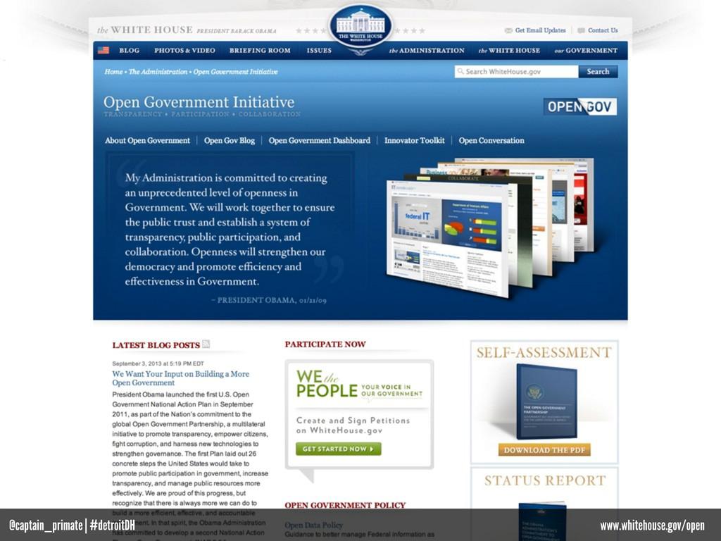 www.whitehouse.gov/open @captain_primate | #det...