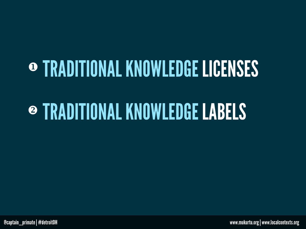  TRADITIONAL KNOWLEDGE LABELS TRADITIONAL KNOW...