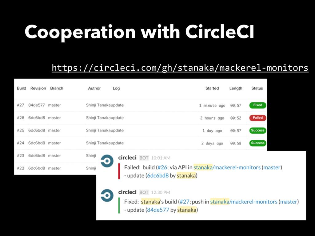 Cooperation with CircleCI https://circleci.com/...