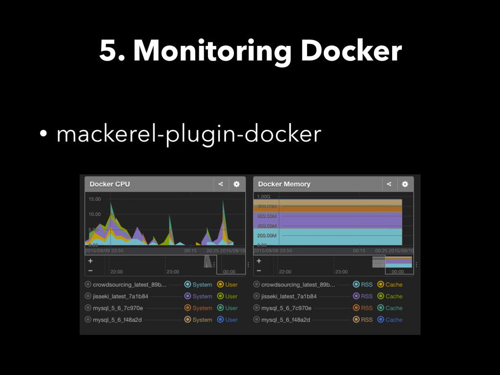 5. Monitoring Docker • mackerel-plugin-docker