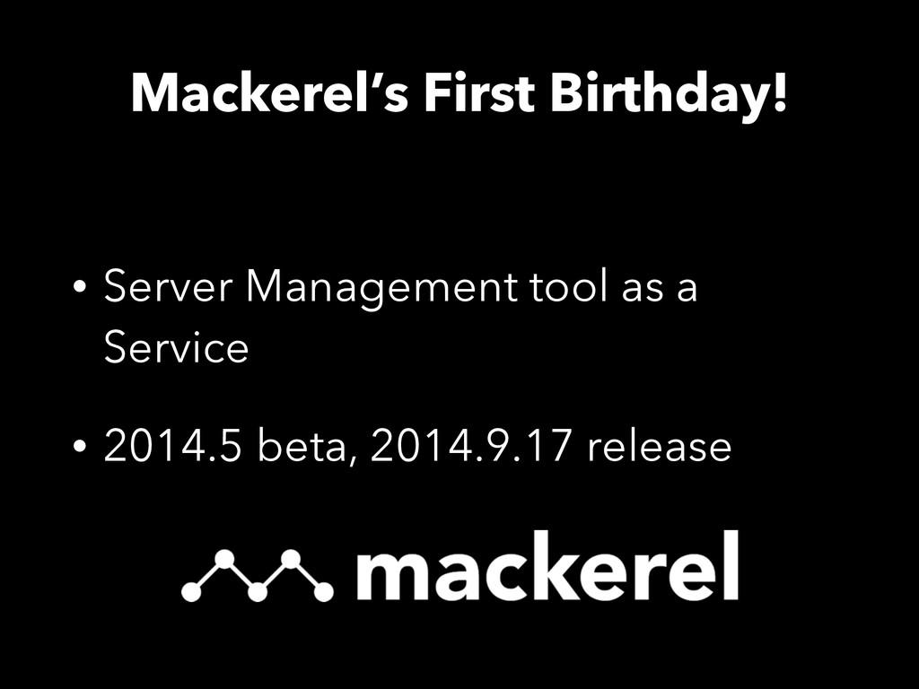 Mackerel's First Birthday! • Server Management ...