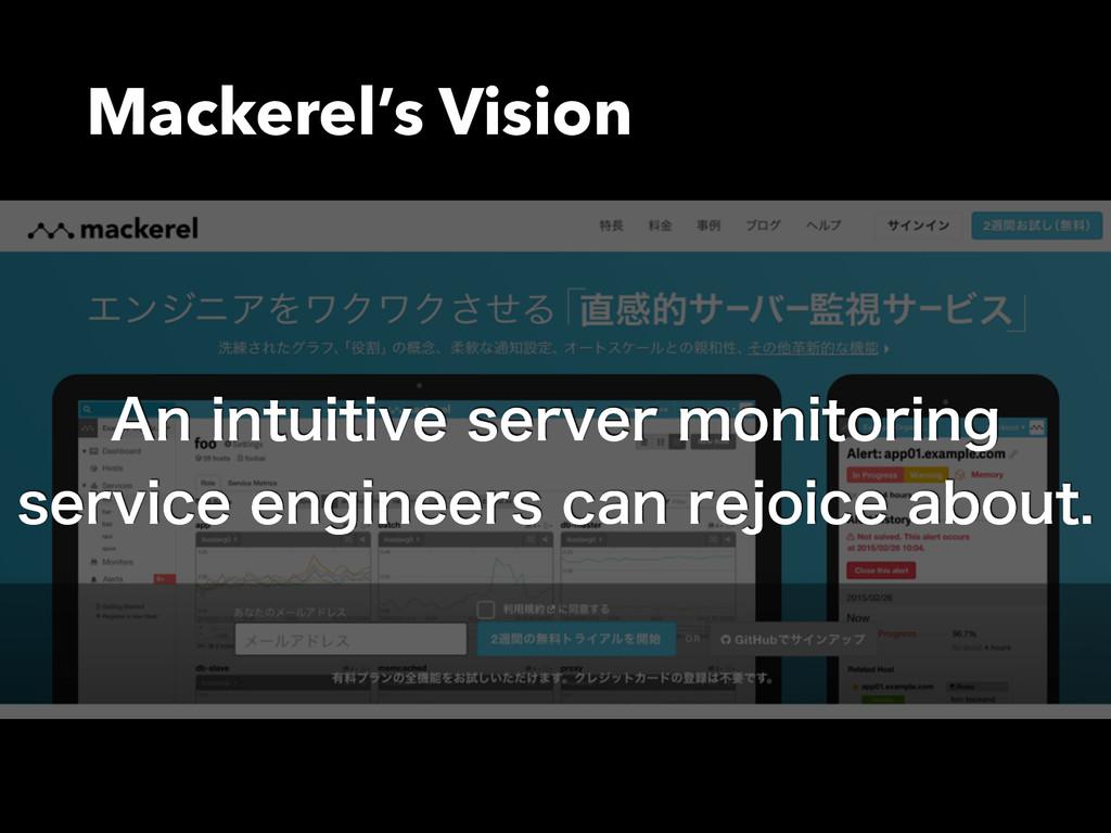 """Mackerel's Vision """"OJOUVJUJWFTFSWFSNPOJUPSJO..."""