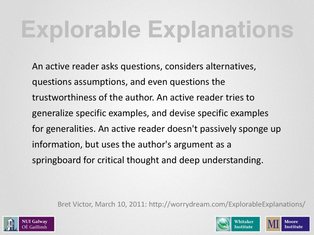 Explorable Explanations An active reader...