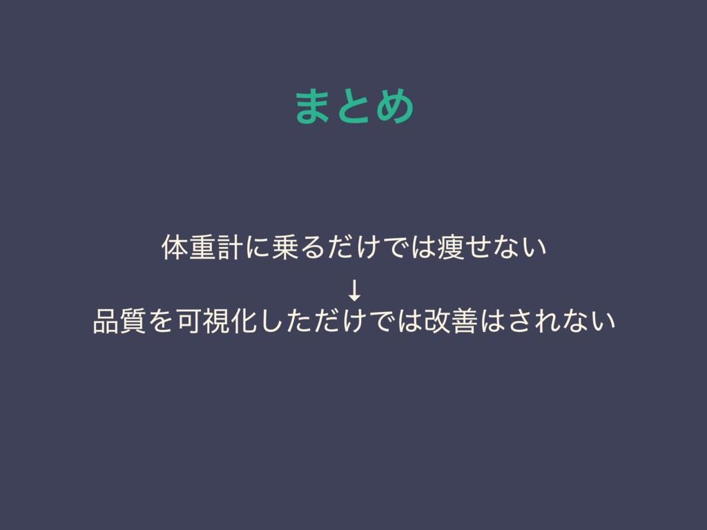 ·ͱΊ ମॏܭʹΔ͚ͩͰ૫ͤͳ͍ ↓ ࣭ΛՄࢹԽ͚ͨͩ͠Ͱվળ͞Εͳ͍