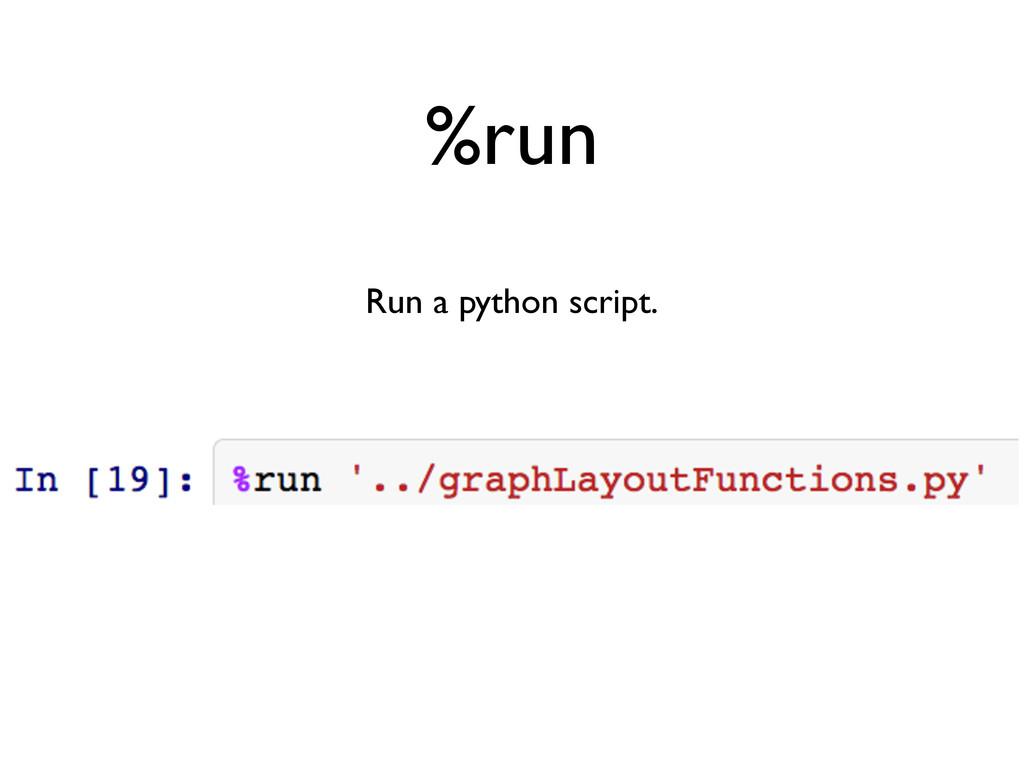 %run Run a python script.