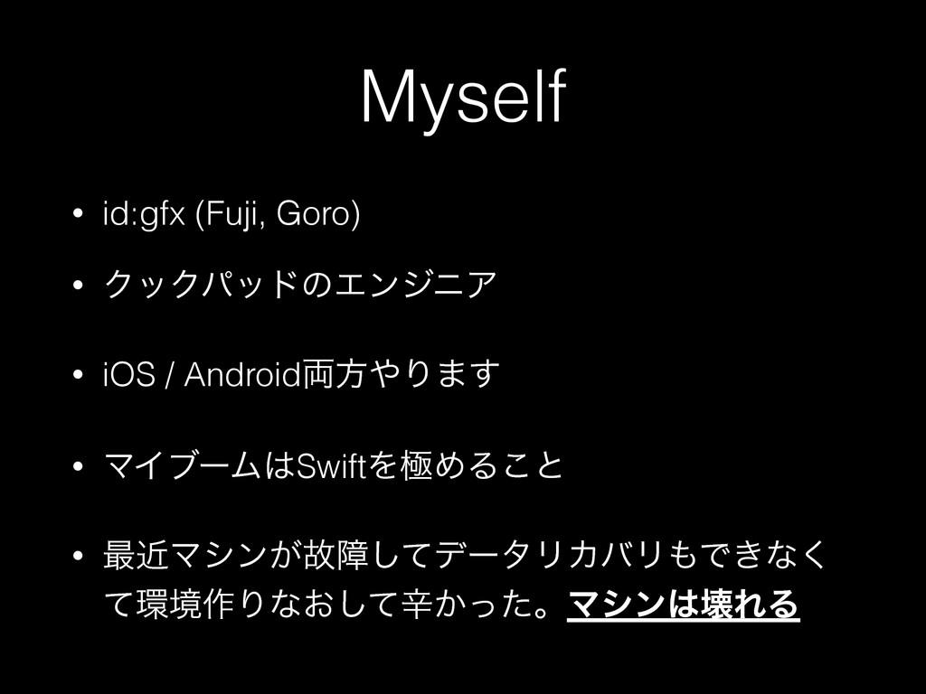 Myself • id:gfx (Fuji, Goro) • ΫοΫύουͷΤϯδχΞ • i...