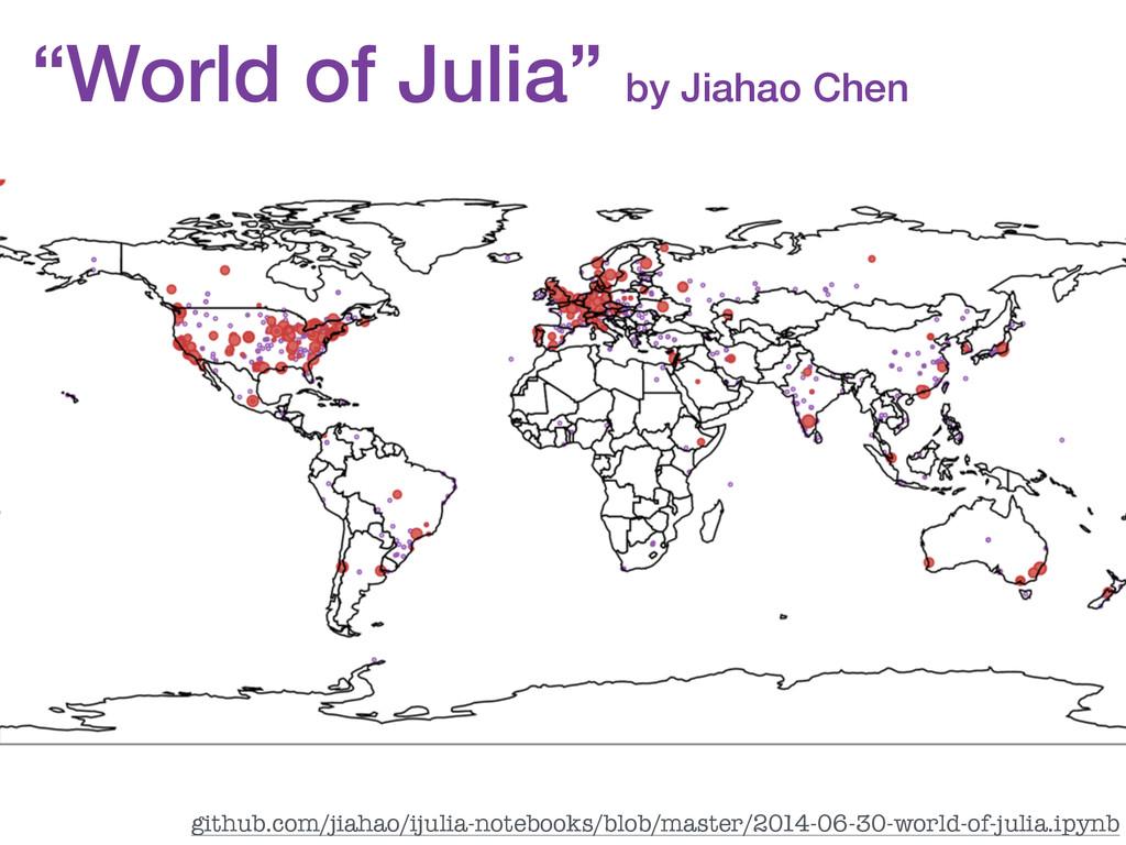 """""""World of Julia"""" by Jiahao Chen github.com/jiah..."""