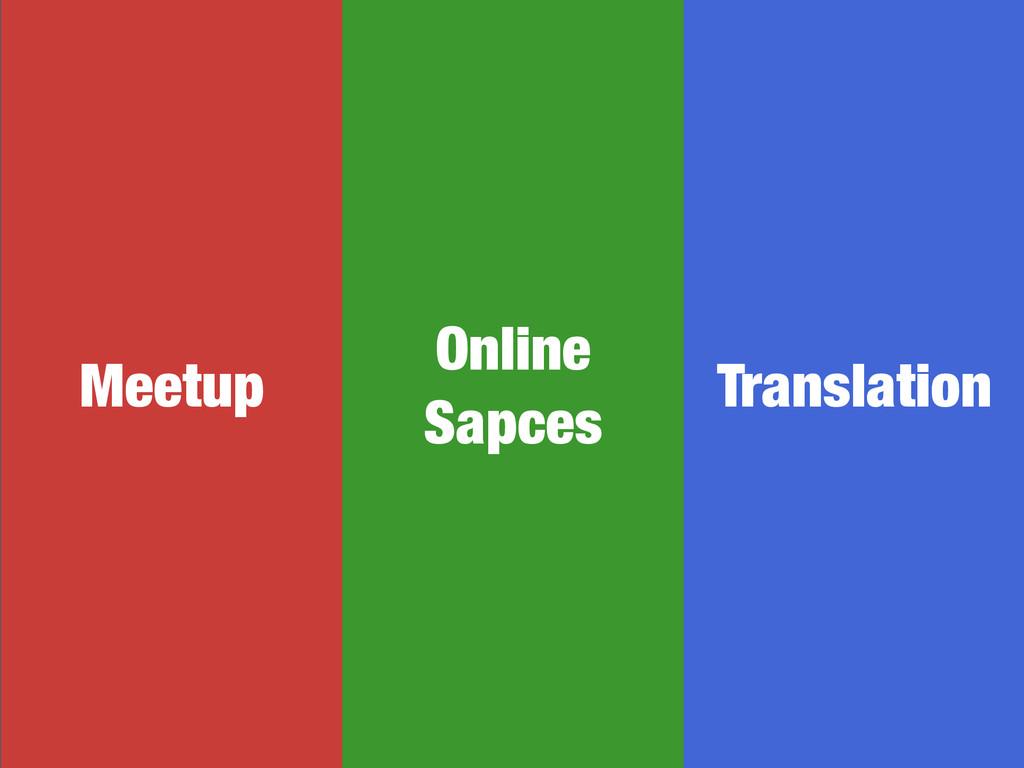 Meetup Online Sapces Translation