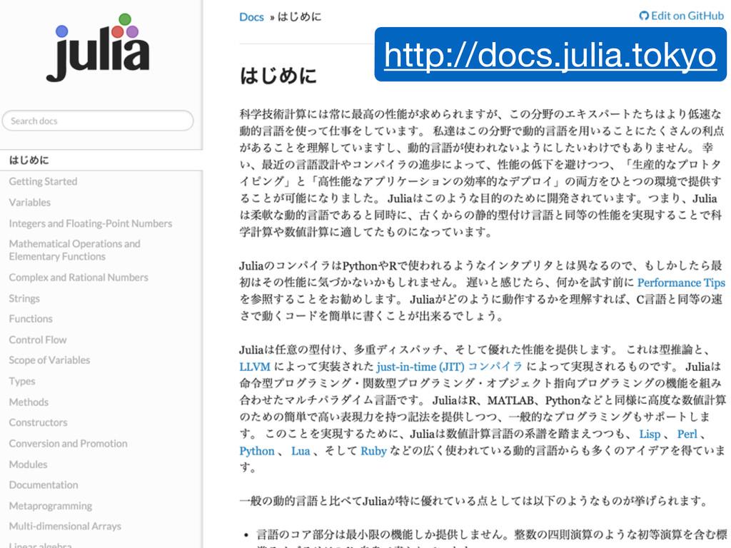 http://docs.julia.tokyo