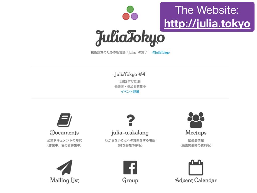 The Website:  http://julia.tokyo