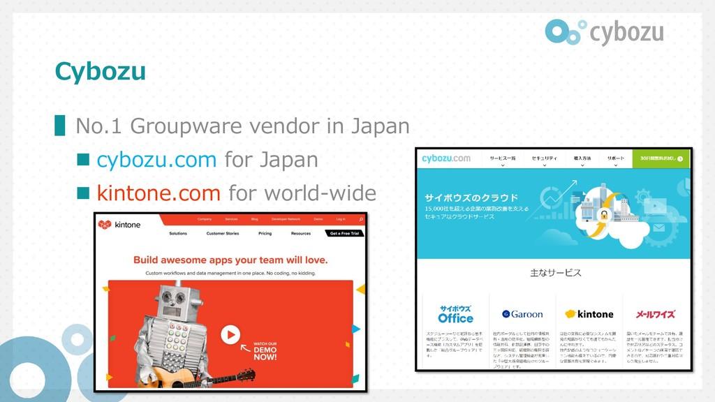 Cybozu ▌No.1 Groupware vendor in Japan  cybozu...