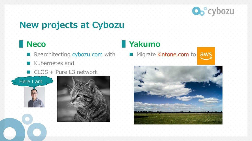 New projects at Cybozu ▌Neco  Rearchitecting c...