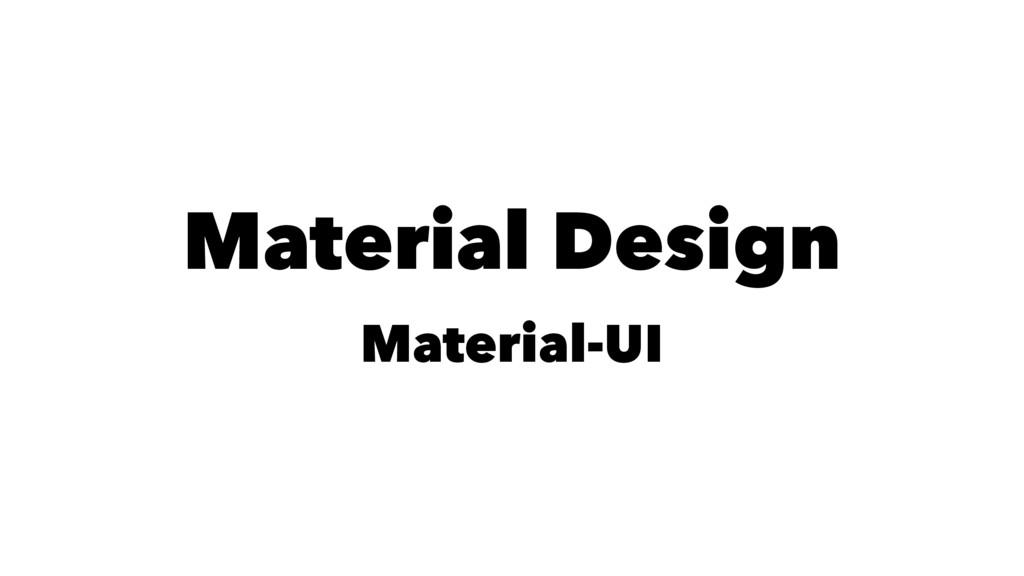 Material Design Material-UI