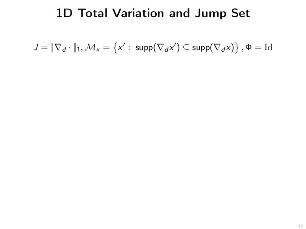 11 1D Total Variation and Jump Set J = ||∇d · |...