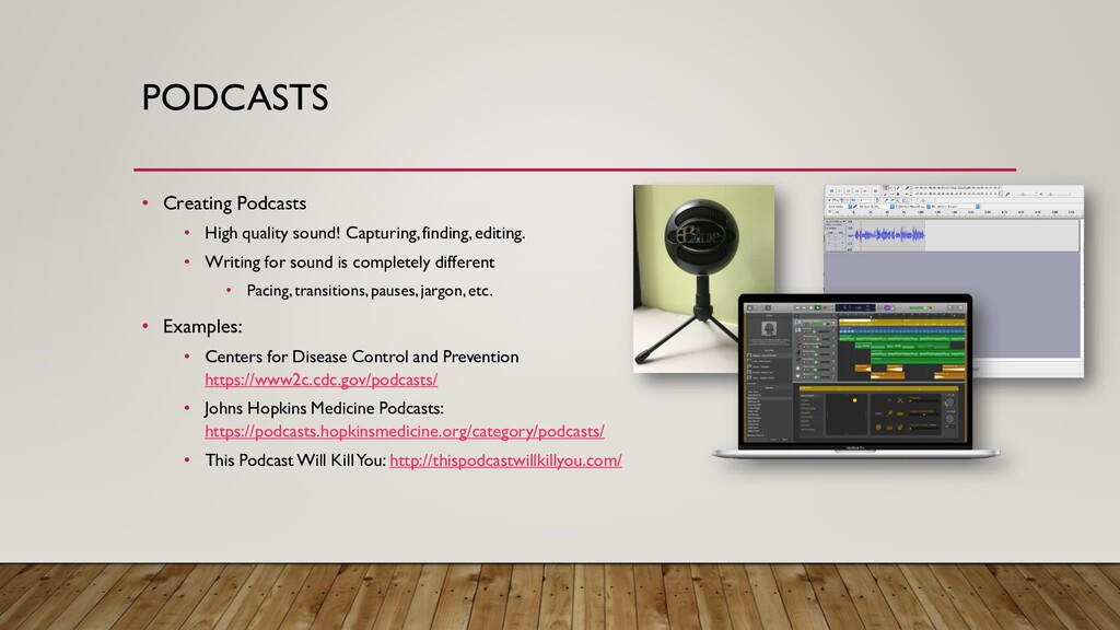 PODCASTS • Creating Podcasts • High quality sou...