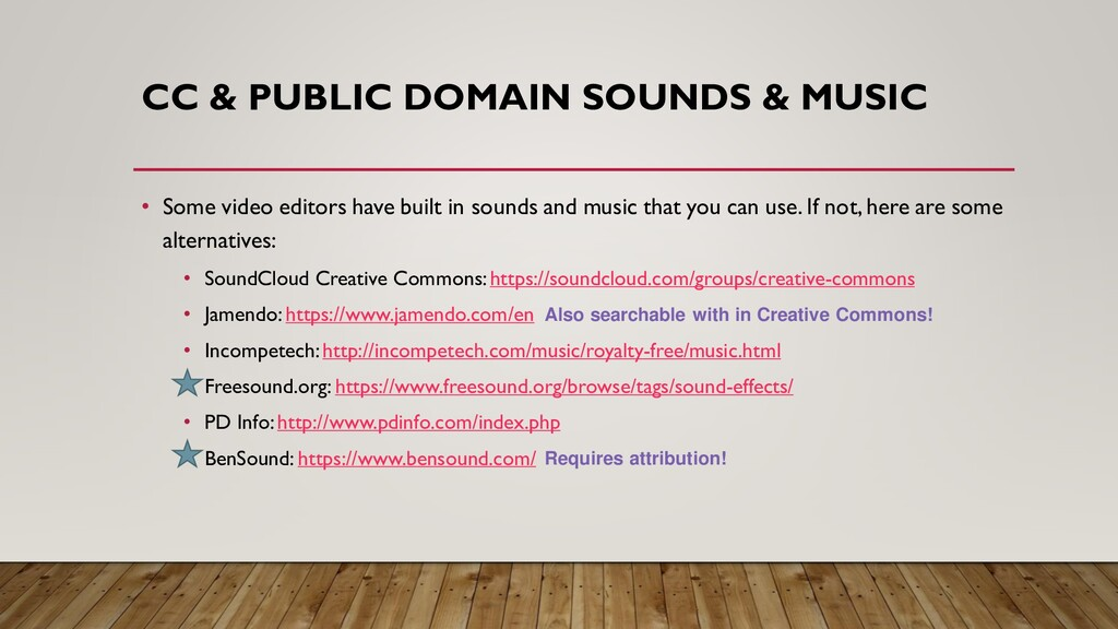 CC & PUBLIC DOMAIN SOUNDS & MUSIC • Some video ...