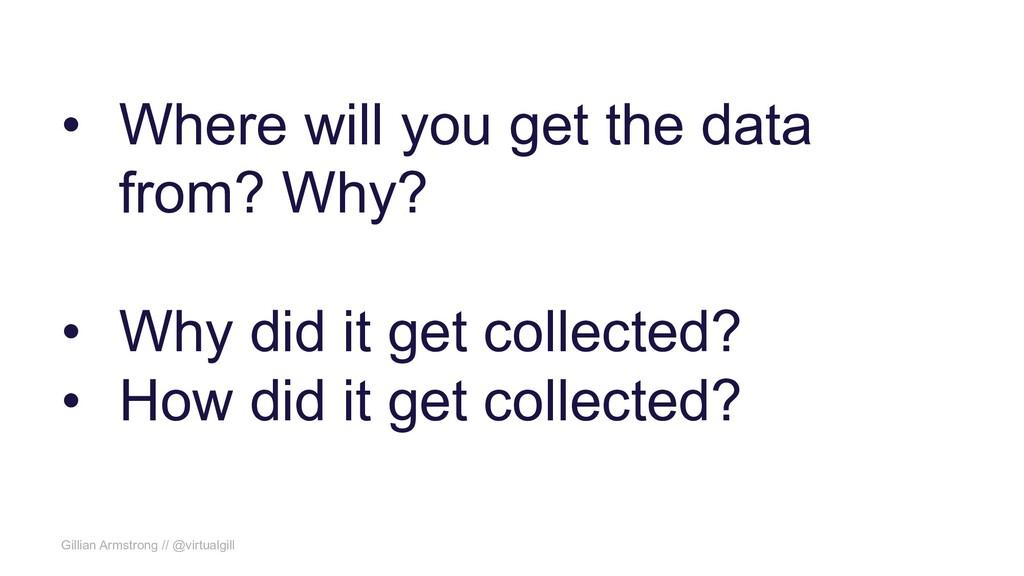 Gillian Armstrong // @virtualgill • Where will ...