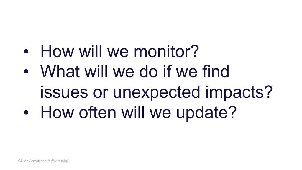 Gillian Armstrong // @virtualgill • How will we...