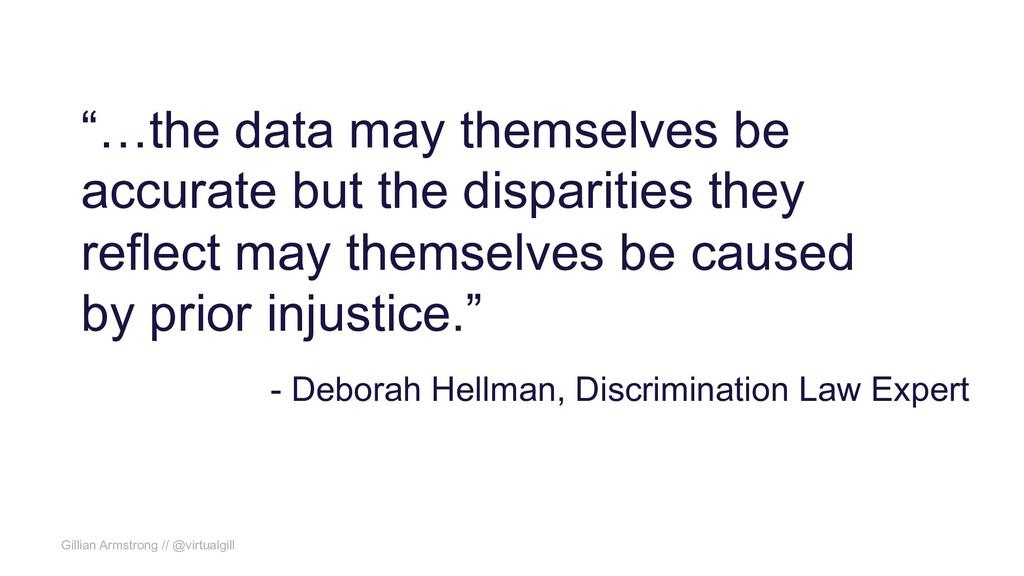 """Gillian Armstrong // @virtualgill """"…the data ma..."""