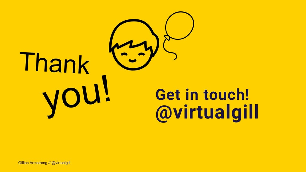 Gillian Armstrong // @virtualgill Thank you! Ge...