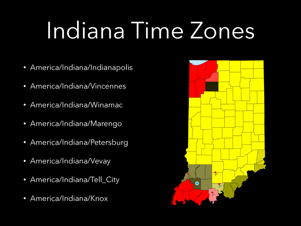 Indiana Time Zones • America/Indiana/Indianapol...