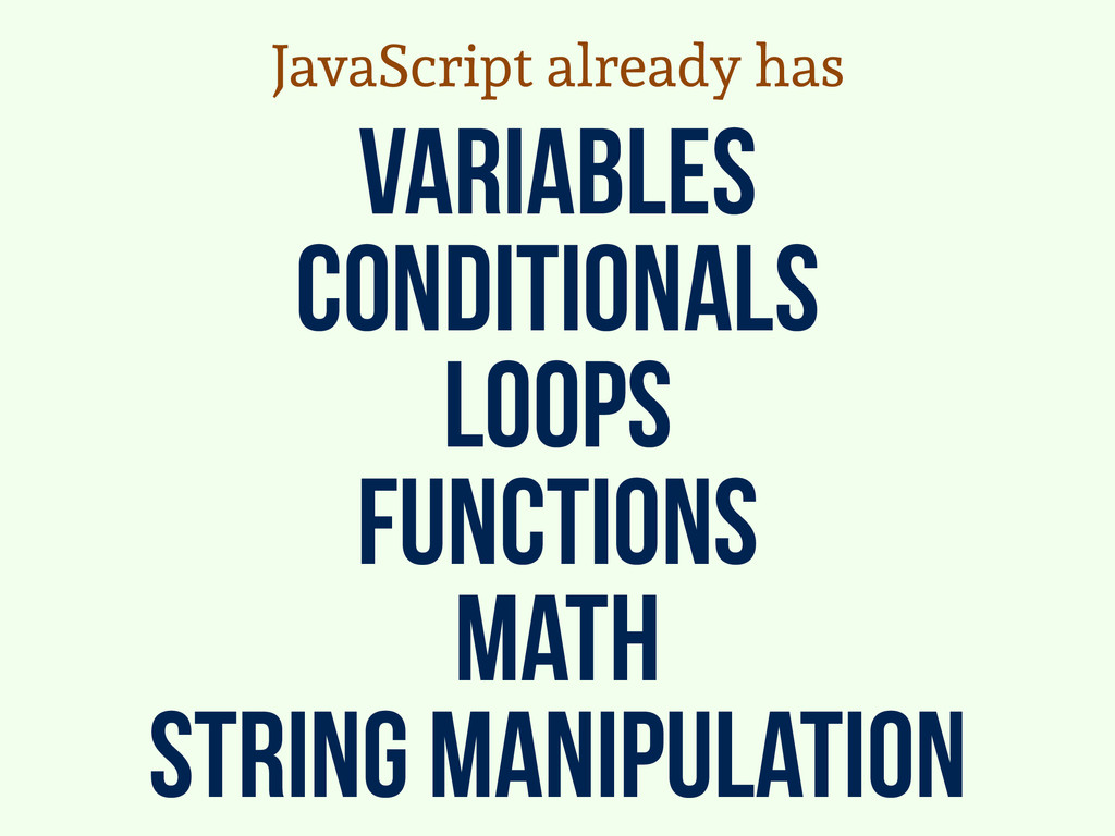 variables conditionals loops functions math str...