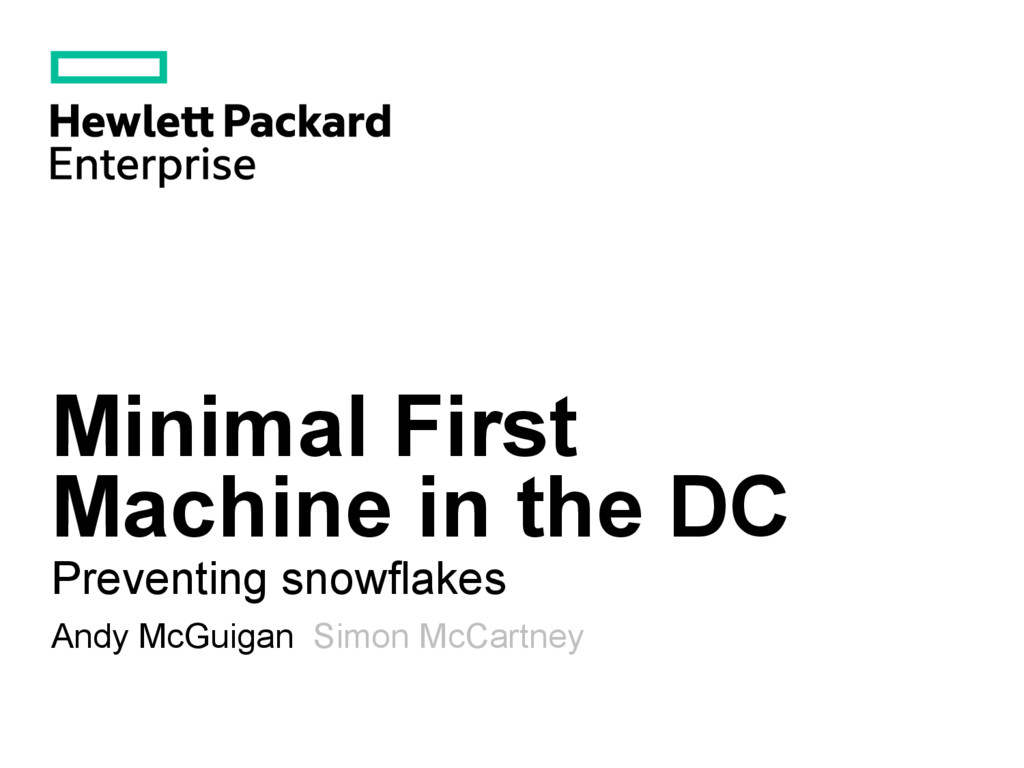 Minimal First Machine in the DC Preventing snow...