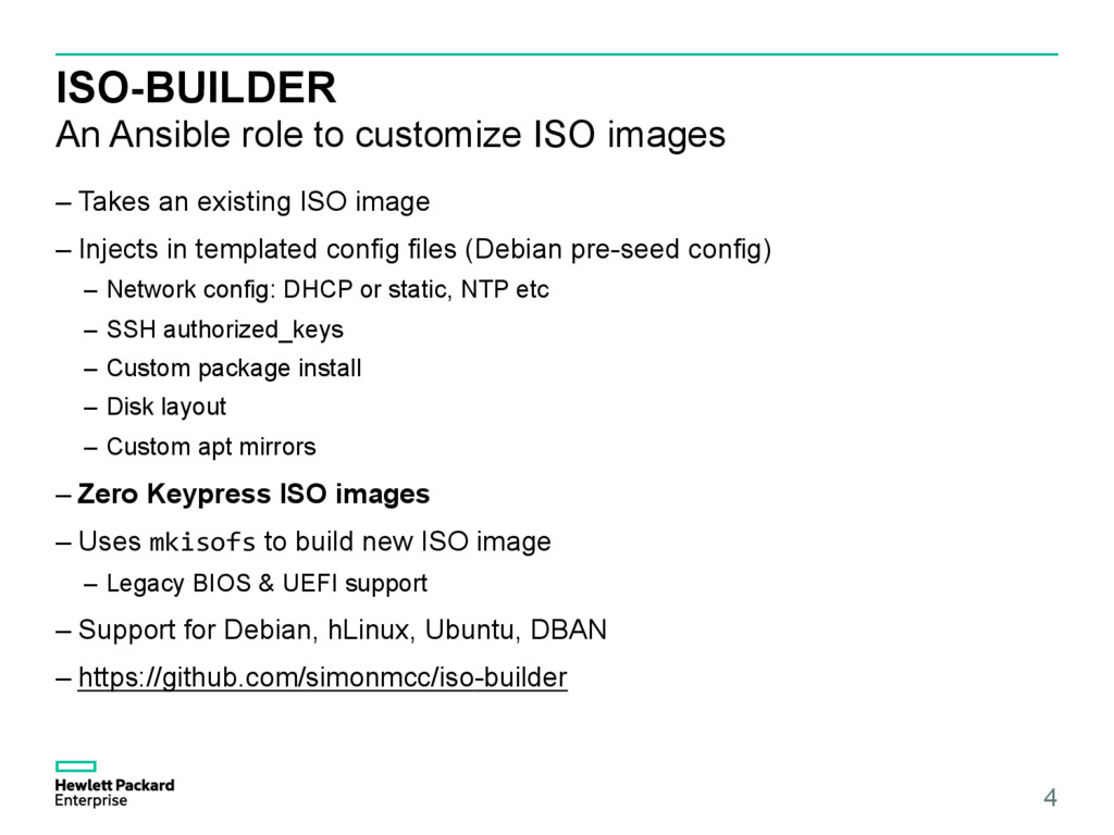 ISO-BUILDER An Ansible role to customize ISO im...