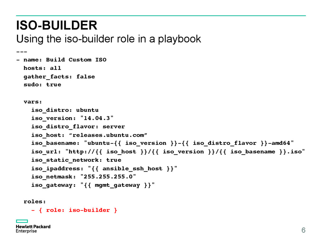 ISO-BUILDER Using the iso-builder role in a pla...