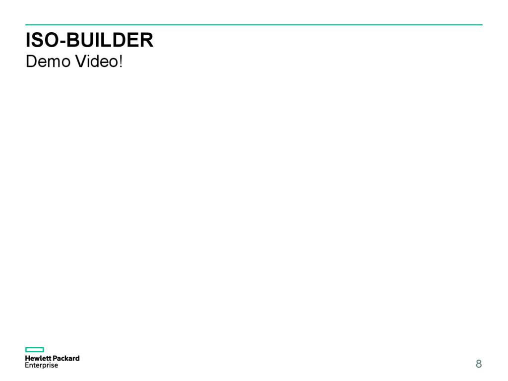 ISO-BUILDER Demo Video! 8