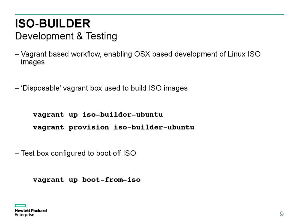 ISO-BUILDER Development & Testing –Vagrant bas...