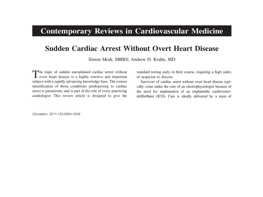 Contemporary Reviews in Cardiovascular Medicine...
