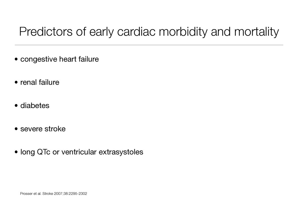 Predictors of early cardiac morbidity and morta...