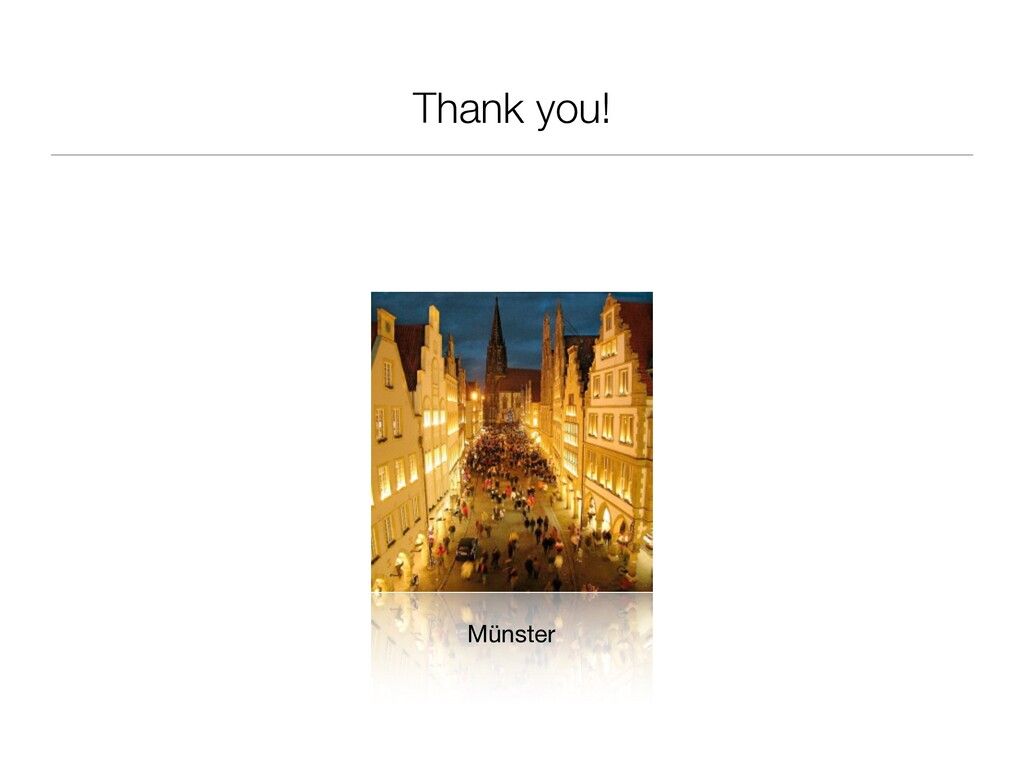 Thank you! Münster