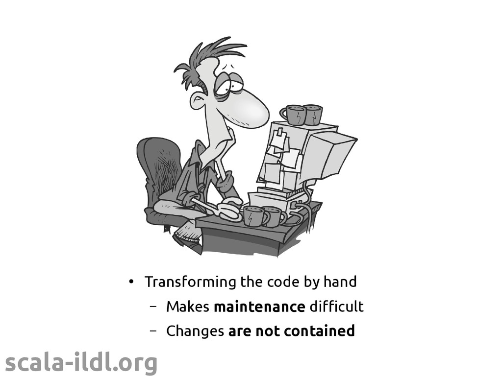 scala-ildl.org ● Transforming the code by hand ...