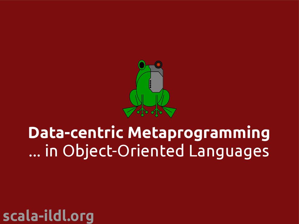 scala-ildl.org Data-centric Metaprogramming ......
