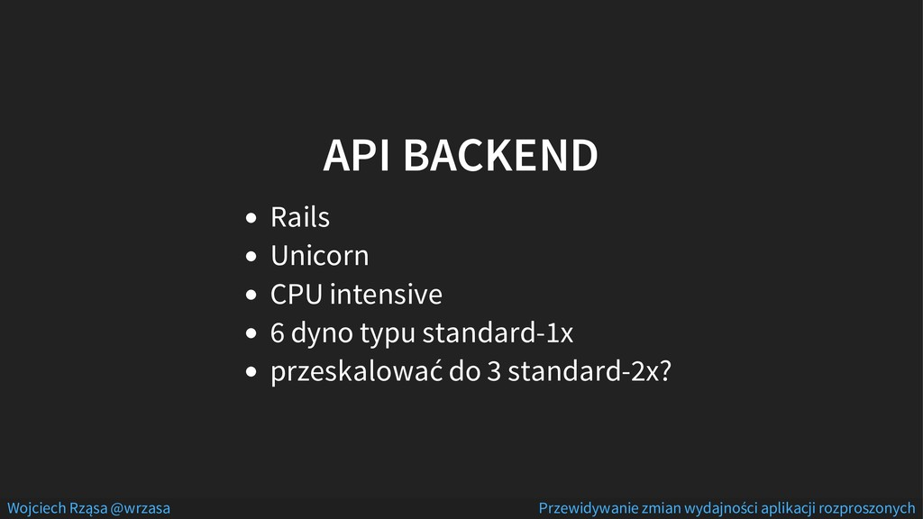 API BACKEND Rails Unicorn CPU intensive 6 dyno ...