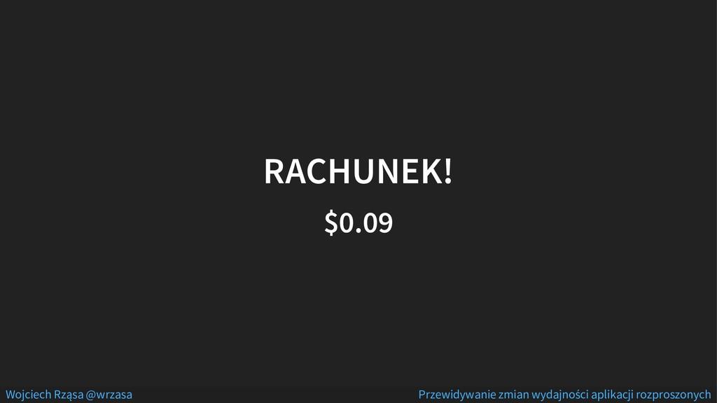 RACHUNEK! $0.09 Wojciech Rząsa @wrzasa Przewidy...
