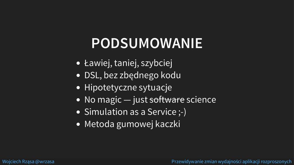 PODSUMOWANIE Ławiej, taniej, szybciej DSL, bez ...