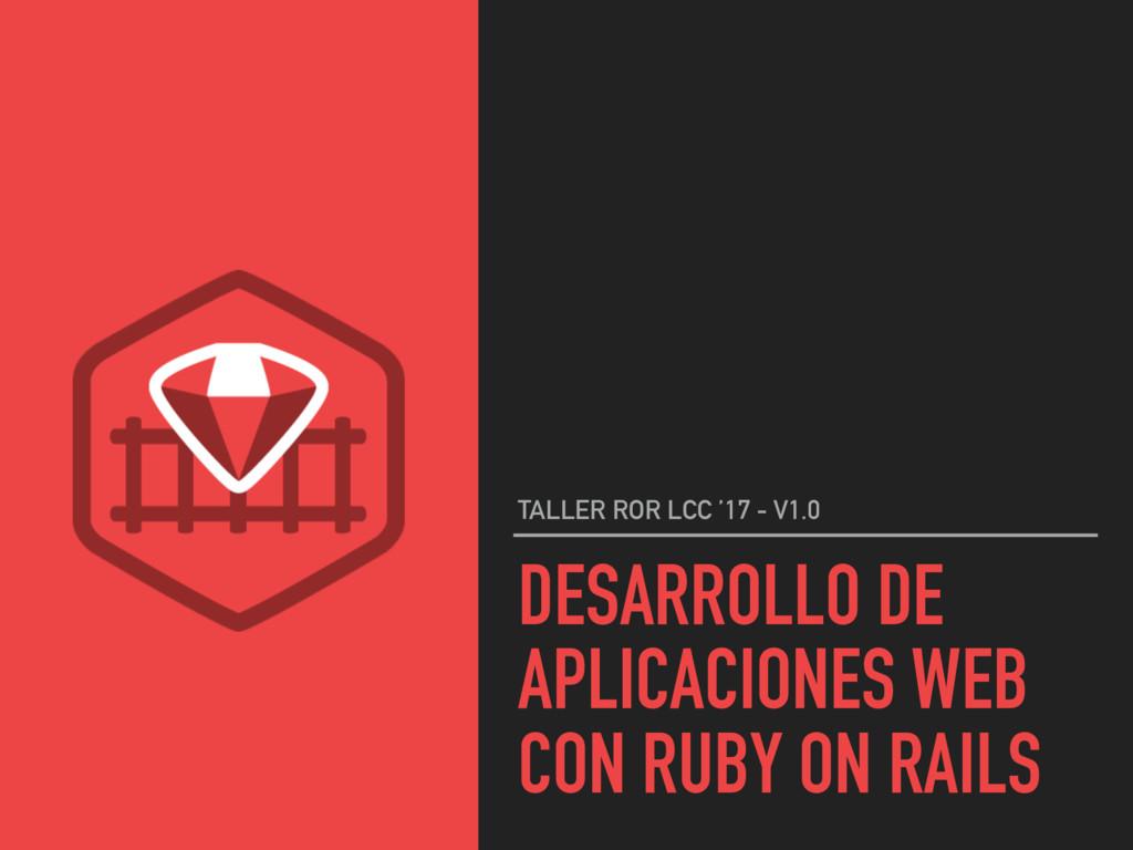 DESARROLLO DE APLICACIONES WEB CON RUBY ON RAIL...