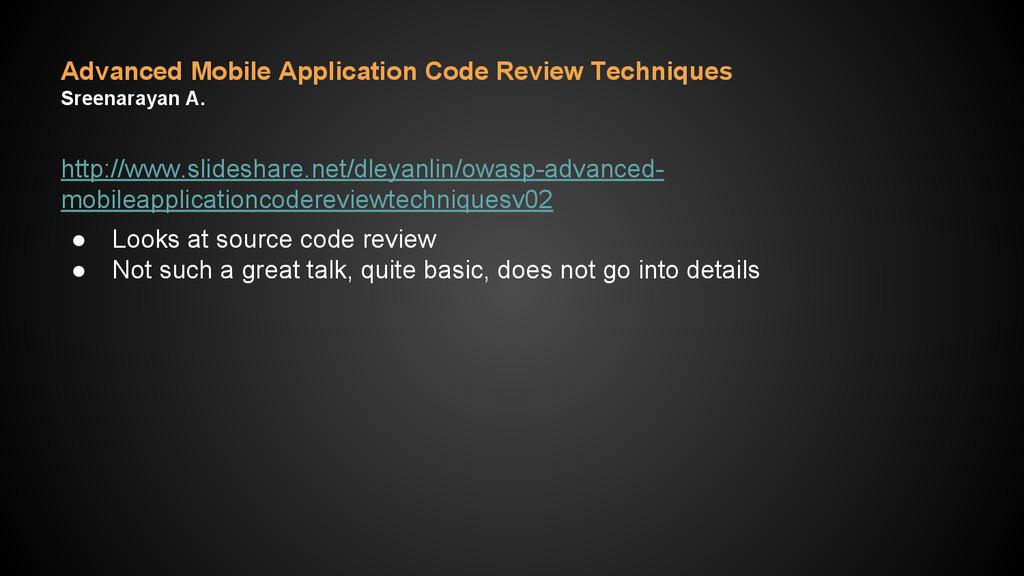Advanced Mobile Application Code Review Techniq...