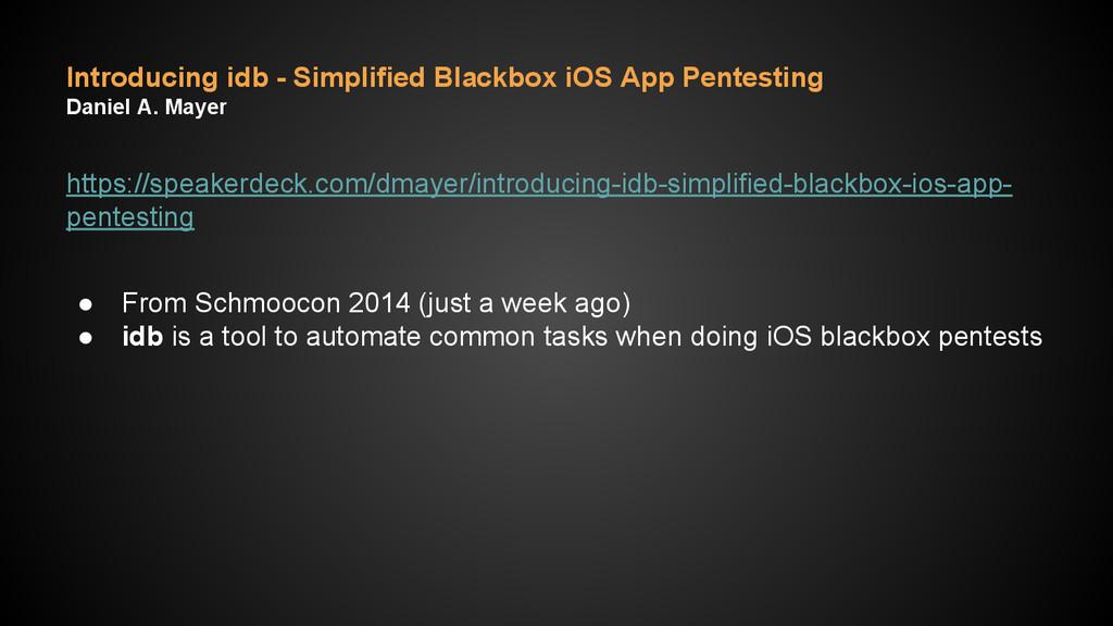 Introducing idb - Simplified Blackbox iOS App P...