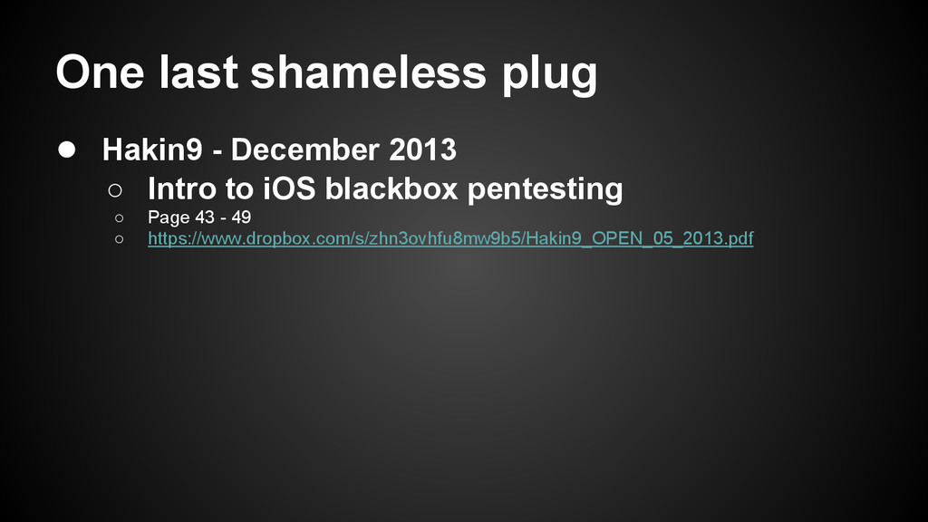 One last shameless plug ● Hakin9 - December 201...