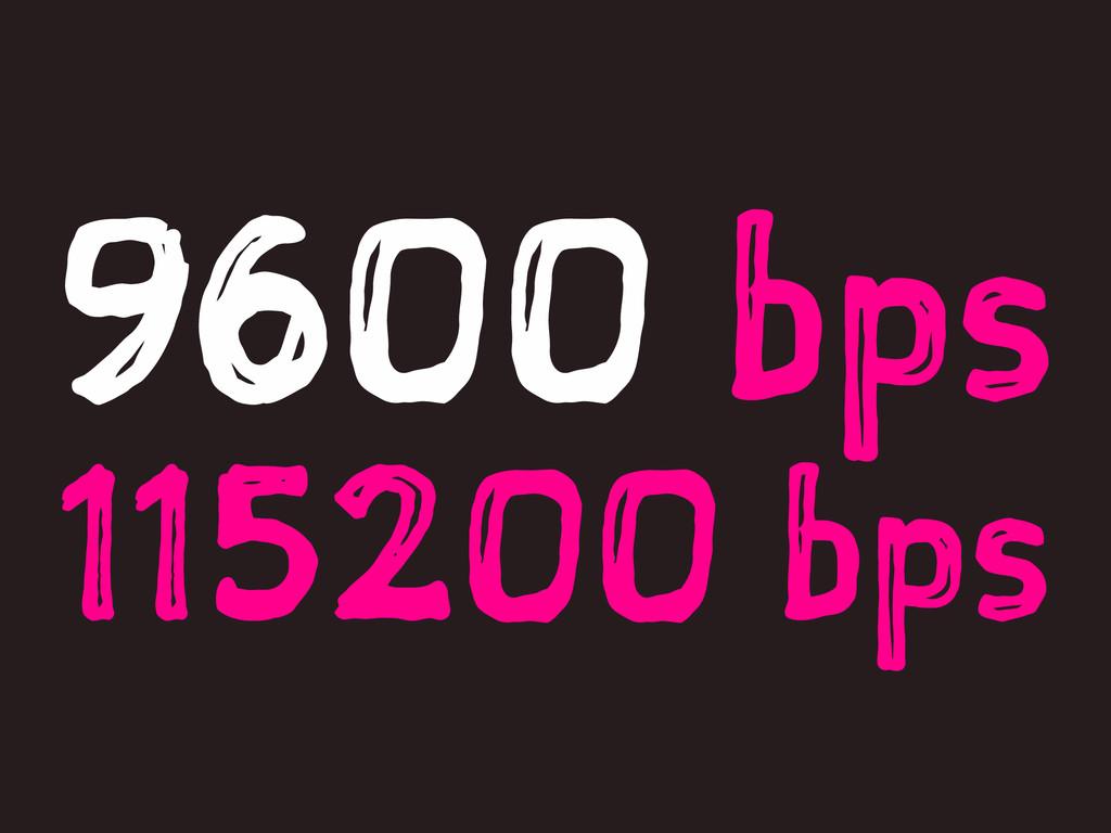 9600 bps 115200 bps