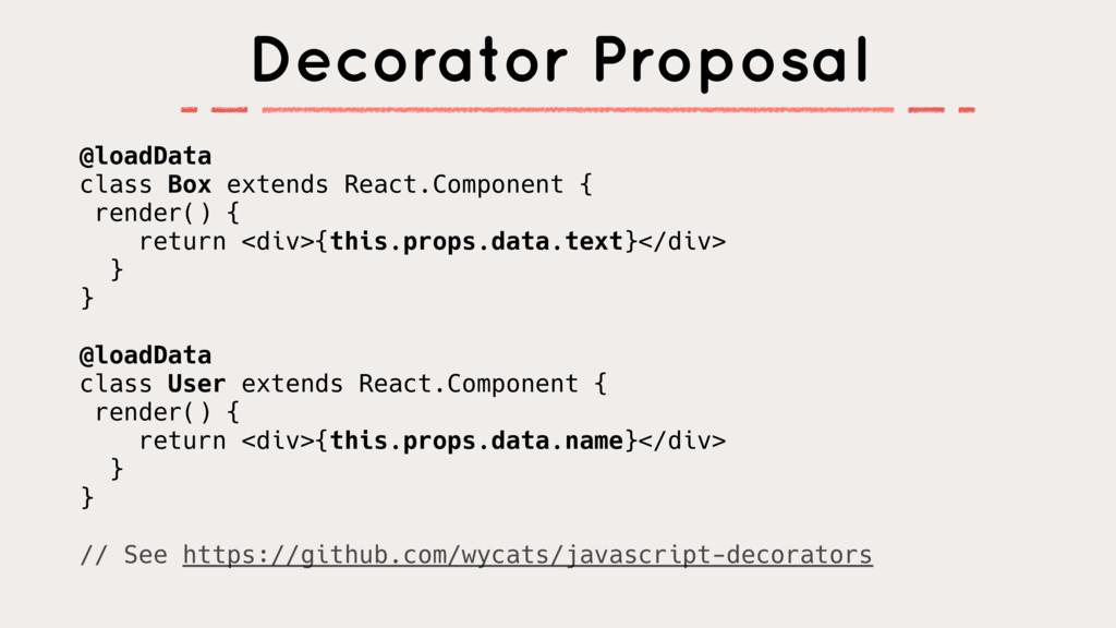 @loadData class Box extends React.Component { r...