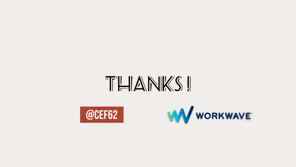 thanks ! @CEF62