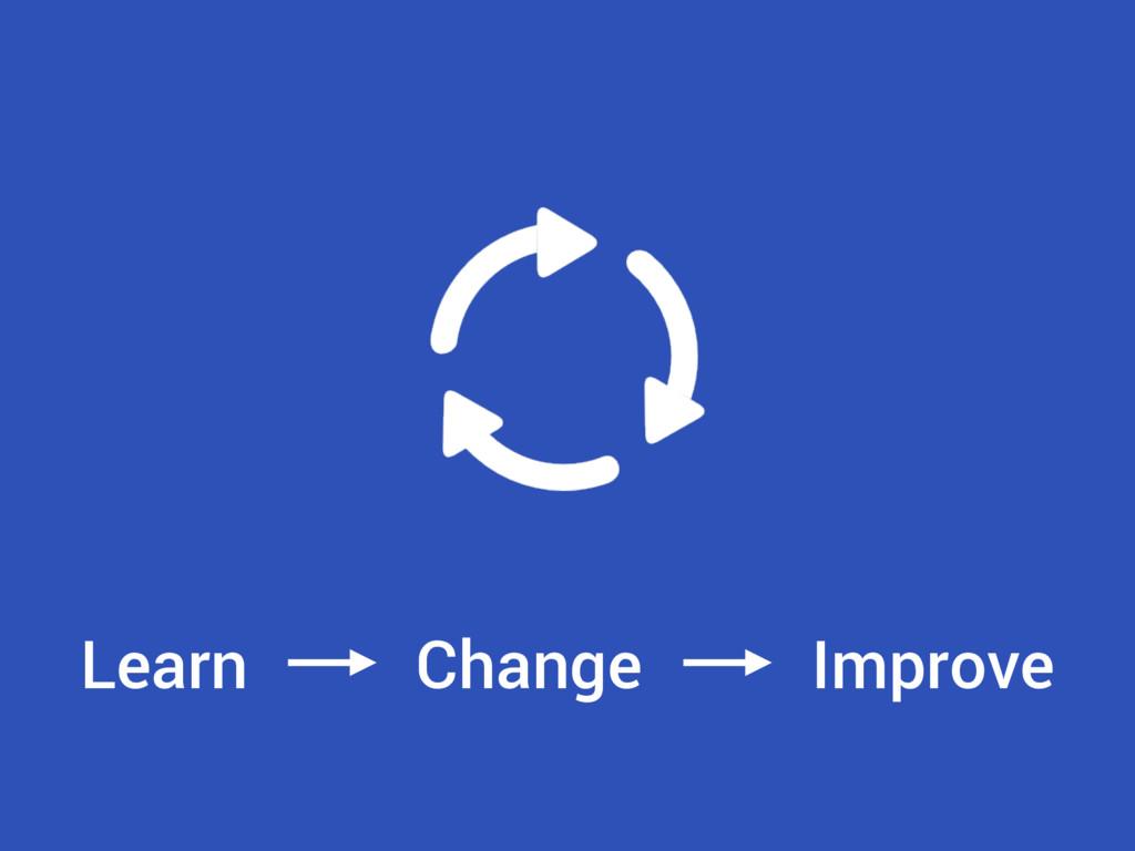 Learn Change Improve